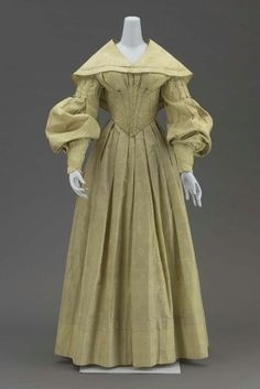 The sleeves !!!! Wedding Dress and Cape 1839 The Museum of Fine Arts, Boston