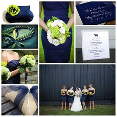 Chartreuse + Navy Wedding