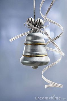 Silver Christmas Bell ornament