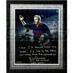 Bill Parcells Facsimile If Im Gonna Cook... Quote Framed Metallic 16x20 Story Photo