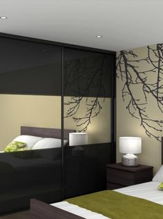 Mirror on wardrobes help to increase light and make the room appear much larger