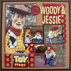 #papercraft #scrapbook #layout #Disney Layout: Woody and Jessie
