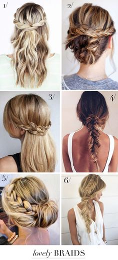 6 lovely braids