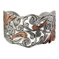 Montana Silversmiths, Autumn Vines Cuff Bracelet