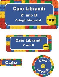 Etiquetas Escolares - Grudado no Lego