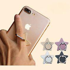 Cute Five Stars 360° Ring Stand Finger Bracket Mount For Smart Mobile Phones ins
