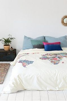 Cool for a guest room.Bianca Green For DENY Louis Armstrong Told Us So Duvet Cover - Urban Outfitters Duvet Covers Urban Outfitters, New Room, Bed Spreads, Dorm Room, Spare Room, My Dream Home, Dream Homes, Bedding Sets, Comforter