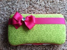 Lime Green Damask Boutique Style Travel by CrystalCreations108, $8.50