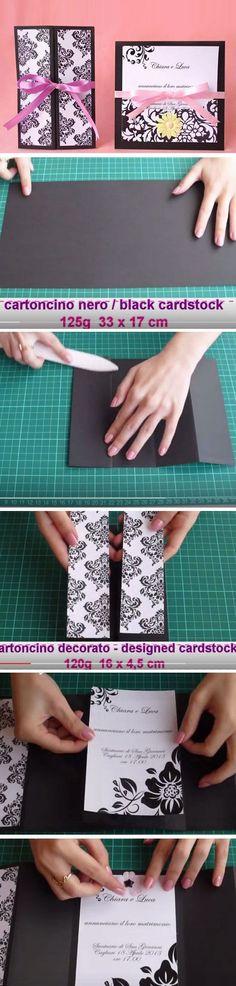 Black & White | Easy to Make Wedding Invitation Ideas
