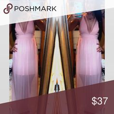Light pink strappy maxi Brand new from my boutique. Size medium. Dresses