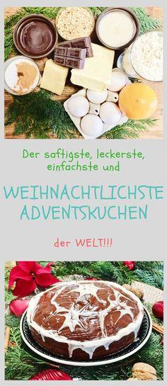 Es gibt so viele Leckereien in der Vorweihnachtszeit, auf die wir uns freuen! Eine davon ist der superleckere und kinderleichte Adventskuchen! #rezept #kuchen #vorweihnachtszeit #advent #weihnachtsfeier #adventskuchen