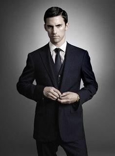 milo ventimiglia. three piece suit.