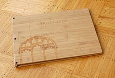Architecture portfolio idea! I like the engraving, wanna use my Dremel for that.