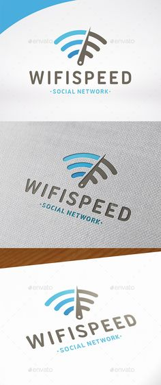 Wifi Speed Test Logo — Vector EPS #internet #networking logo • Available here → https://graphicriver.net/item/wifi-speed-test-logo/12649470?ref=pxcr