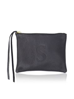 "44% OFF Jesse and Co. Women's Personalized ""S"" Pouch, Black"