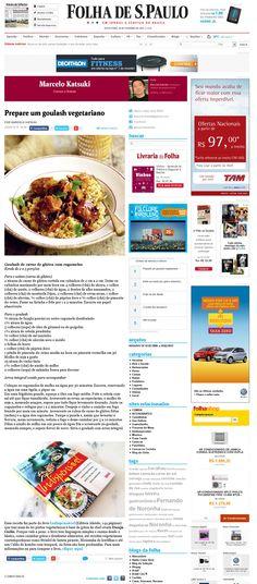 Título: Prepare um goulash vegetariano. Veículo:Blog da Folha de São Paulo. Data: 20/02/2015. Cliente: Editora Alaúde