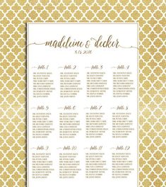 Wedding Seating Chart Template Seating Chart Seating Plan