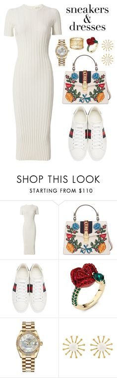 """""""Untitled #6"""" by minimalist26 ❤ liked on Polyvore featuring Helmut Lang, Gucci, Atelier Swarovski, Rolex and Meg Carter Designs"""