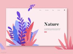 Web Template : Nature Great work from a designer in the Dribbble community; your best resource to discover and connect with designers worldwide. Web Design Quotes, Web Design Trends, Graphic Design Inspiration, App Design, Layout Design, Branding Design, Flat Design, Web Mobile, Mobile Web Design