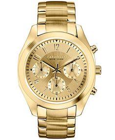 Caravelle by Bulova Women s Chronograph Gold-Tone Stainless Steel Bracelet  Watch 36mm 44L118 Okosóra 22ad78539b