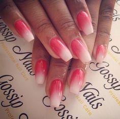 Ballerina shape nails.