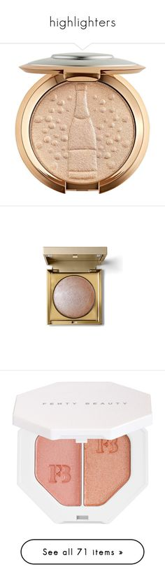 """""""highlighters"""" by silleangelique ❤ liked on Polyvore featuring beauty products, makeup, beauty, fillers, eyebrow cosmetics, eyebrow makeup, polish makeup, gloss makeup, brow makeup and face makeup"""