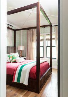 molly mahon wallpaper - mini burchetts in slate | guest room