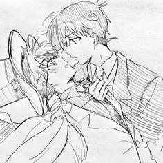 - - Page 3 - Wattpad Manga Detective Conan, Detective Conan Shinichi, Conan Comics, Detektif Conan, Magic Kaito, Anime Couple Kiss, Kaito Kuroba, Detective Conan Wallpapers, Kaito Kid