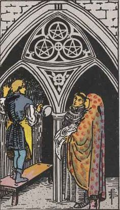 The 3 of Pentacles : Manifesting Magic in the Mundane « Shades of Midnight   In tarot, the 3 of Pentacles is first and foremost a career card. Expect recognition and appreciation for your past efforts.