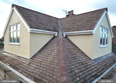 To create more usable space in a Loft Conversion, Dormer Structures can be installed. See examples on Skyline Loft Conversions. Attic House, Attic Loft, Loft Room, Attic Rooms, Attic Library, Attic Office, Attic Apartment, Loft Dormer, Dormer Roof