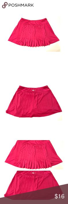 "Fila athletic skort Hot pink Fila athletic skort size medium. Like new. Waist 13-15"", length 13"". Measurements taken flat. Fila Shorts Skorts"