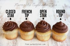 How to frost cupcakes using different tips