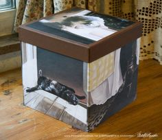 Cube-shaped Keepsake Boxes Feature Five Paintings Per Box - Portraits of Animals