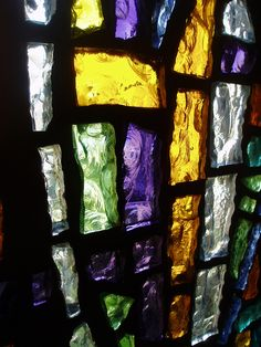 Dalle de Verre by Aidan McRae Thomson, via Flickr  This type of glass makes me dizzy, it is so wonderful.  My church growing up used it and it is stunning and has a texture that makes you want to touch.