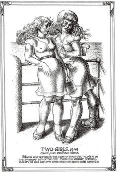 "Robert CRUMB 1996 - #9 from ART & BEAUTY MAGAZINE #1 - Fantagraphics Books, Washington U.S.A. ""… the sight of beautiful women…"" Robert Crumb, Gilbert Shelton, Fritz The Cat, Comic Art, Comic Books, Linear Art, Alternative Comics, Adult Cartoons, Beauty Magazine"