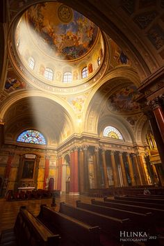You don't have to be spiritual to feel something here. St. Stephen's Basilica (Budapest, Hungary)