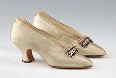 Shoes (Pumps), Evening  J. & J. Slater (American)  Date: ca. 1910 Culture: American