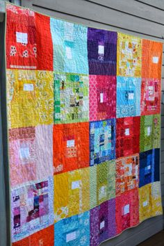 Quilt it, squares sewn of scraps by the amazing Film in the Fridge