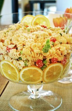 Cold Lemon Pasta Salad-meant to be made the day before and served cold. Gorgeous on a holiday table too!