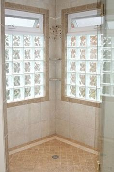 1000 images about bathroom ideas on pinterest glass for Glass block window design ideas