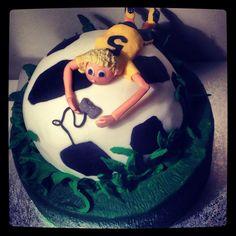 Soccer & playstation cake