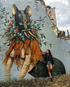 New Street Art by La_Miss_Van found in Barcelona #art #mural #graffiti…
