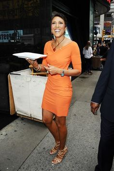Robin Roberts Strappy Sandals - Robin Roberts Looks - StyleBistro