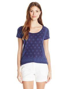 Lucky Brand Women's Handkerchief-Print T-Shirt Printed Linen, Printed Tees, Used Textbooks, Aztec, Lucky Brand, Hoodies, Best Deals, Sweaters, T Shirt