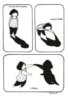 Coletivo Gerimoon #solidao #quadrinhos #tirinha