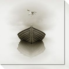 Time Out 1 (Boat) Canvas Wall Art