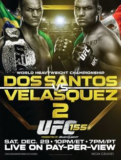 UFC 155: Dos Santos vs. Velasquez 2 Ergebnisse - Results