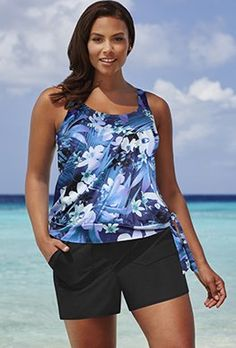 e13af394a7e20 Shortinis - Beach Belle Nigella Blouson Cargo Shortini Swimsuits For All