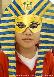 My grade 6 classes are exploring the art of Ancient Egypt this term. They made these masks in Art for a class assembly item, wh...