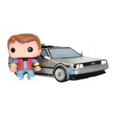 Figurine POP! Retour vers le Futur Marty et DeLorean